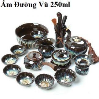 bộ ấm trà thiên mục cao cấp nhiều dụng cụ pha trà đẹp at75