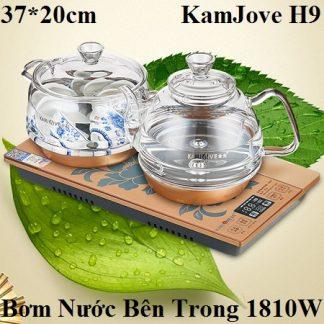 bộ ấm pha trà điện thủy tinh chính hãng kamjove h9 bơm nước bên trong lòng ấm