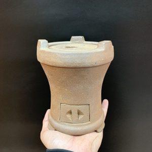 Bếp đun nước pha trà tử sa dùng than hoặc cồn viên thích hợp ấm dung tích 500ml-1,4 lít
