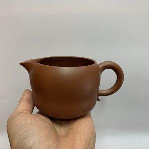 Chén tống cao cấp làm chuyên trà đẹp gốm nê hưng 300ml thủ công hoả biến màu đỏ đẹp
