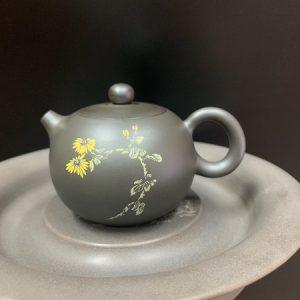 Ấm tây thi nhũ thủ công nắp khít cao cấp hoa mẫu đơn 200ml pha trà ngon công năng tốt