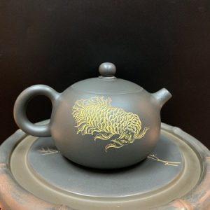 Ấm tử sa cao cấp Tây Thi họa Cá Rồng thủ công nắp khít pha trà ngon công năng tốt