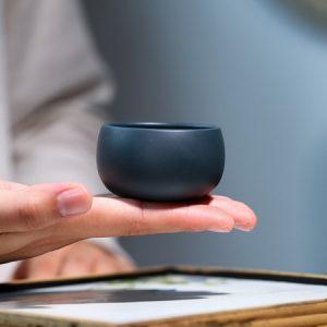 Chén trà tử sa lục nê nguyên khoáng nghi hưng thủ công 50ml uống trà ngon
