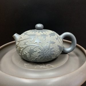 Ấm pha trà tử sa tây thi khắc phỏng cổ như ý thủ công hoàn hảo pha trà ngon