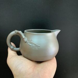 Chén tống tử sa cao cấp hỏa biến dáng trúc thủ công đẹp dùng làm chuyên rót trà cực tốt.